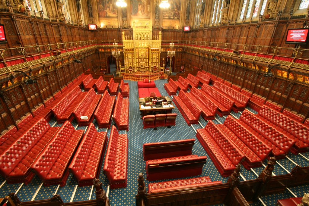 House of Lords Chamber, UK Houses of Parliament