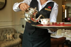 Egerton House Hotel Vegan Afternoon Tea - tea pouring
