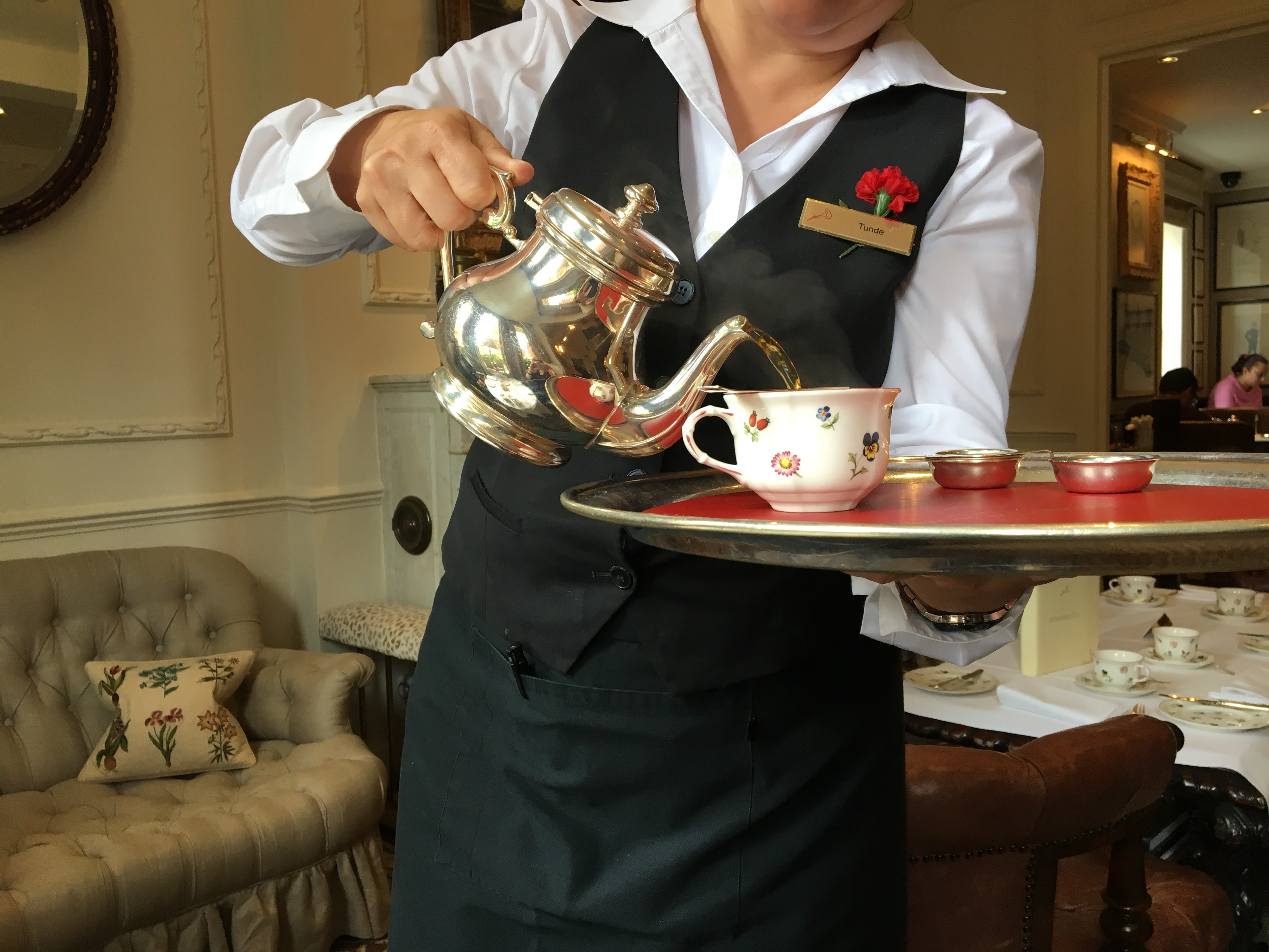 Egerton House Hotel Vegan Afternoon Tea - tea pouring
