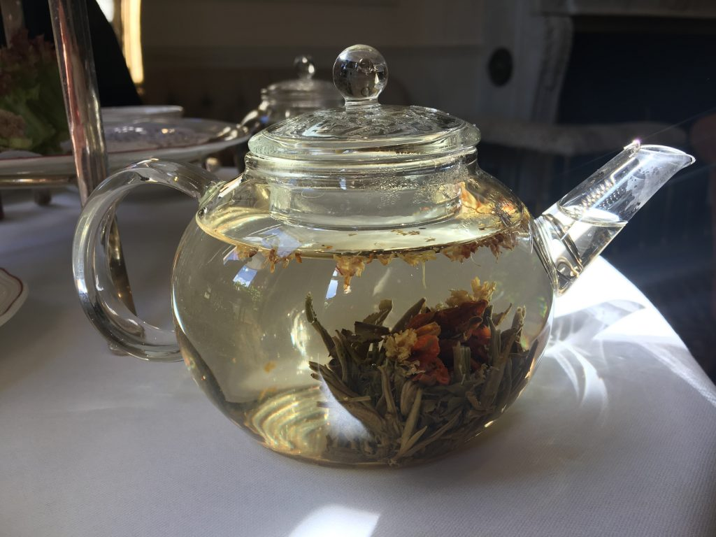 Egerton House Hotel Vegan Afternoon Tea - flowering tea