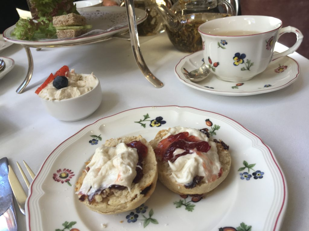 Egerton House Hotel Vegan Afternoon Tea - scones