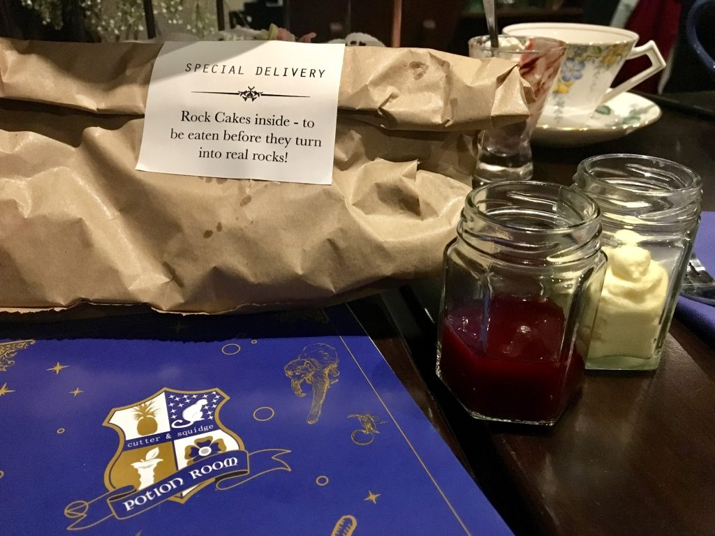 Cutter & Squidge Potion Room afternoon tea - rock cakes