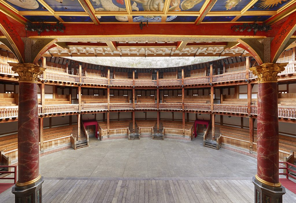 Actor's view from the stage, Shakespeare's Globe. Copyright: Peter Dazeley