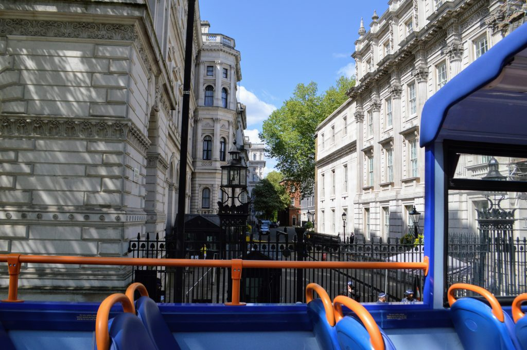 Megabus London sightseeing bus tour - Downing Street