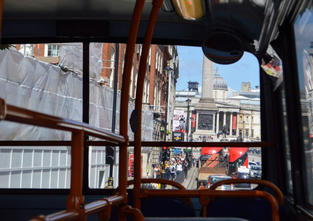 Megabus London sightseeing bus tour - Trafalgar Square