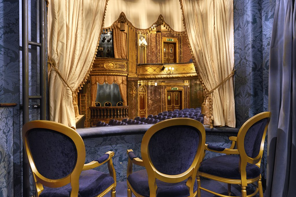 Inside the Royal Box at Theatre Royal Haymarket. Copyright:Peter Dazeley