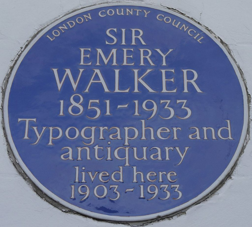 Emery Walker blue plaque