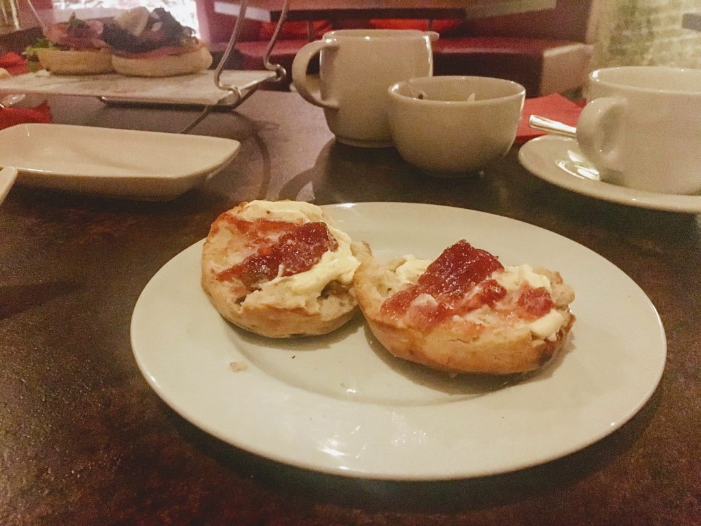 Café in the Crypt Luxury Afternoon Tea - scones