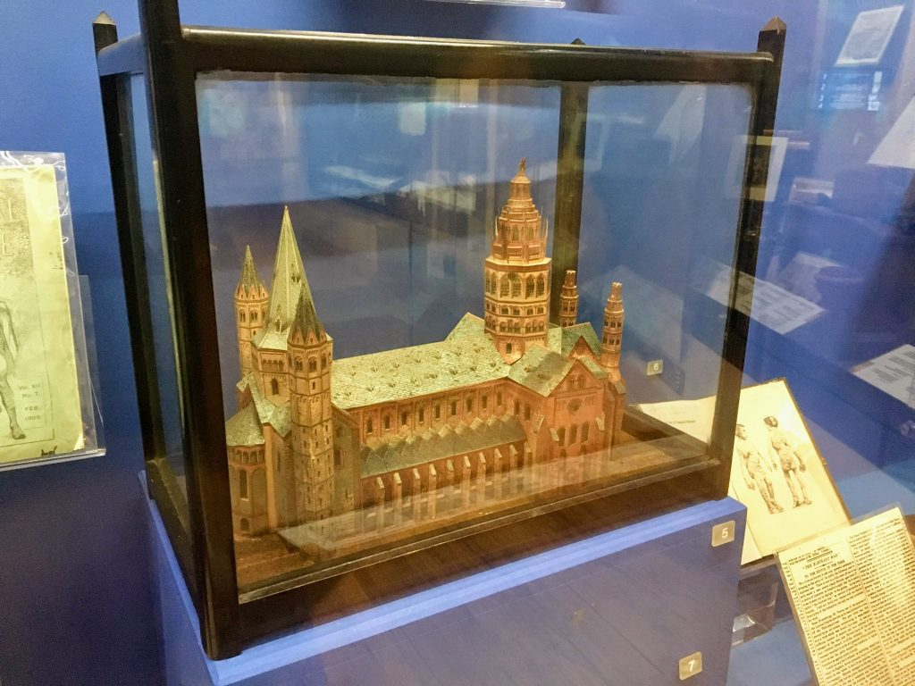 Model church made by The Elephant Man