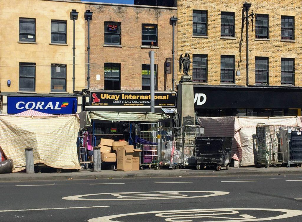 259 Whitechapel Road - a former curiosity shop where Joseph Merrick (The Elephant Man) was on display in 1884