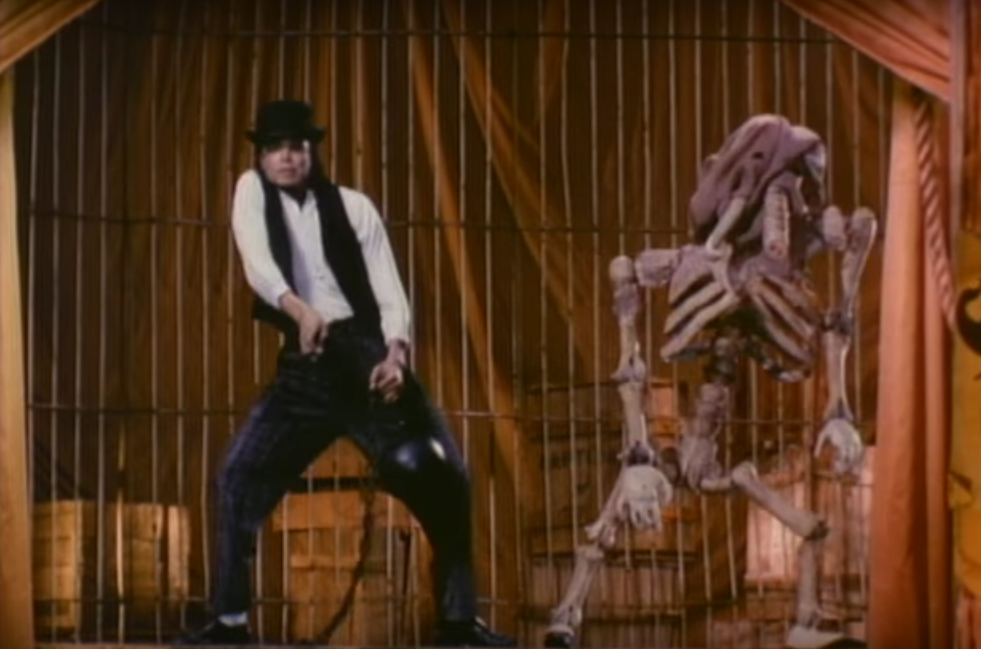 Michael Jackson - Leave me Alone video - dancing with the bones of The Elephant Man