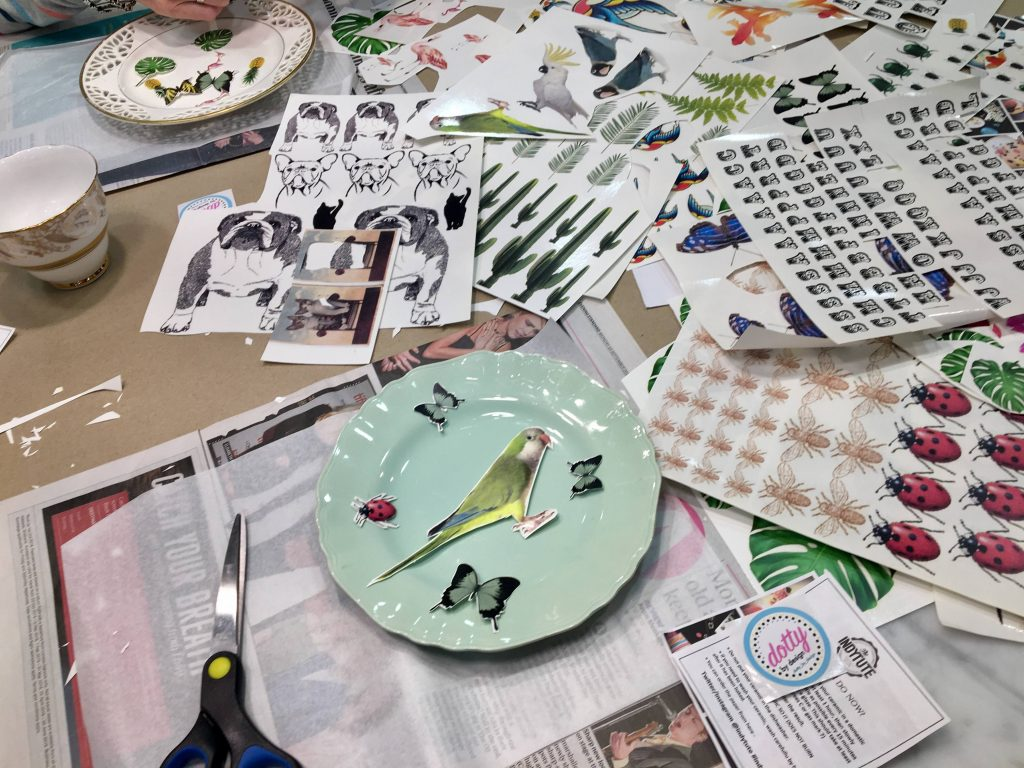 Indytute - Vintage plate upcycling workshop