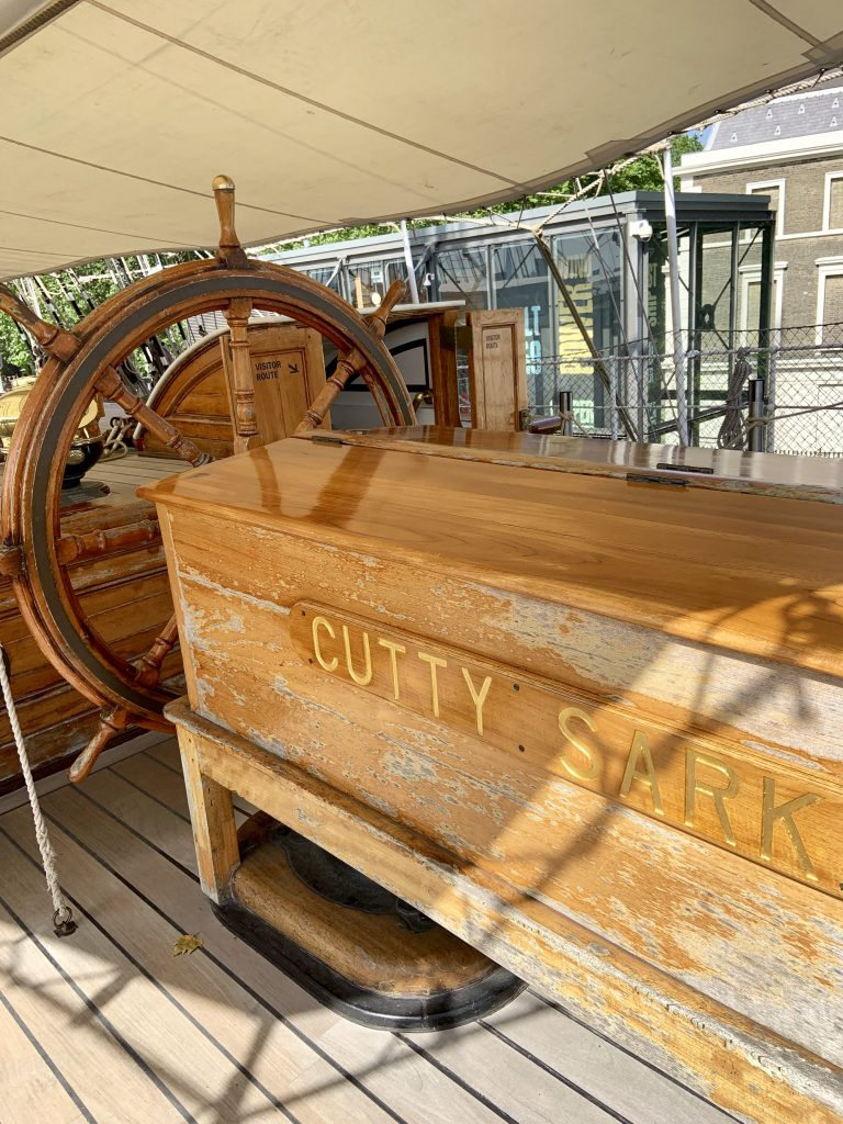 Cutty Sark steering wheel